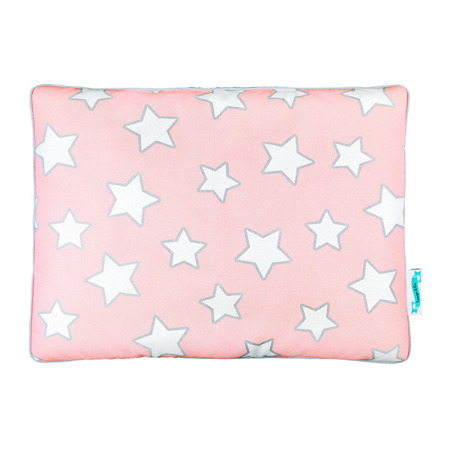 Poduszka bawełniano - welurowa Pink Stars