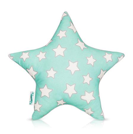 Poduszka ozdobna 'STAR' Mint & Grey Stars