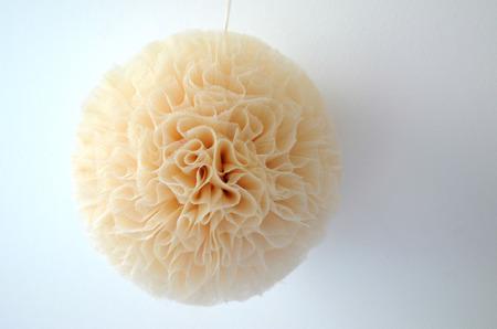 Pompon tiulowy Złoty 20 cm, handmade
