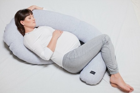 Poofi Poduszka ciążowa Organic&Color bordowa