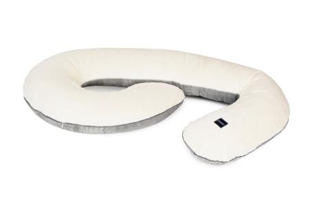 Poofi poduszka ciążowa kremowo-szary