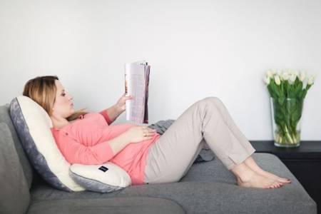 Poofi poduszka ciążowa szaro-biały