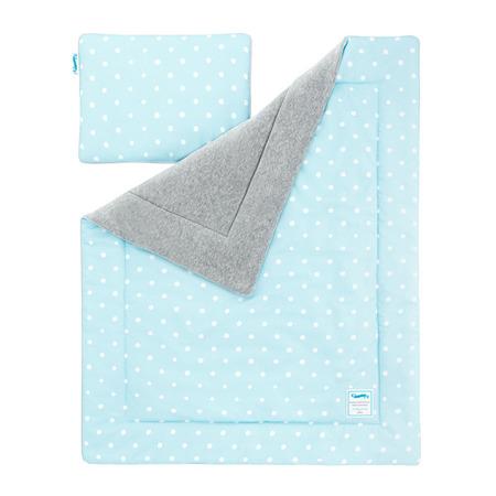 Pościel dziecięca 100 x 135cm Lovely Dots Mint&Grey