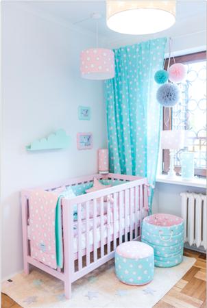 Pościel dziecięca 140 X 200 Pink & Mint Stars