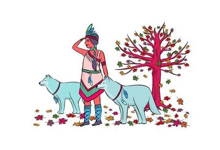 Pościel dziecięca Indianka, 120x90cm