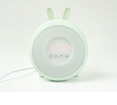 Rabbit & Friends Lampka budząca światłem Króliczek zielona