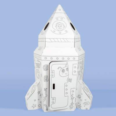 Tektorado tekturowy domek do malowania Kosmiczna Rakieta
