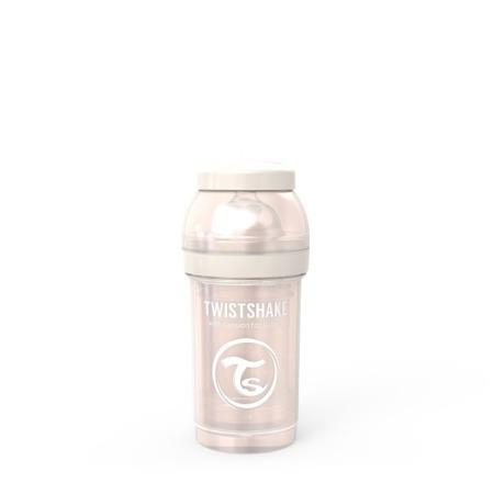 Twistshake Antykolkowa butelka do karmienia 180ml perłowy szampan