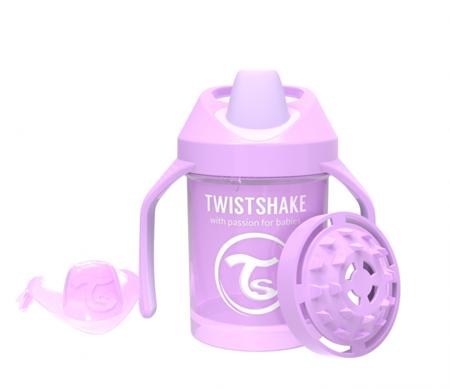 Twistshake  Kubek niekapek z uchwytami i mikserem do owoców 230 ml pastelowy fioletowy