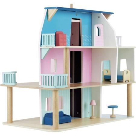 Vilac Domek dla lalek drewniany z akcesoriami i windą