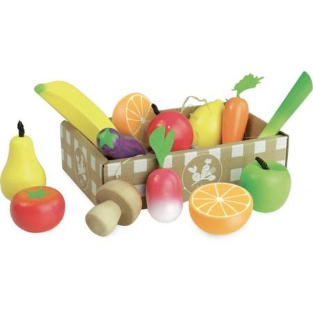 Vilac, Owoce i warzywa drewniane w skrzynce