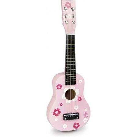 Vilac gitara różowa w kwiatki