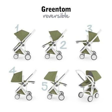 Wózek Greentom 2w1 CARRYCOT + REVERSIBLE eko czarno-szary, 10 kolorów