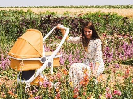 Wózek głeboki Greentom CARRYCOT eko biało-oliwkowy, 10 kolorów