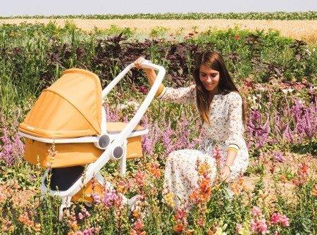 Wózek głeboki Greentom CARRYCOT eko biało-różowy, 10 kolorów