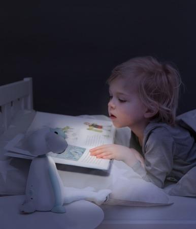 ZAZU Lampka do czytania FIN z automatycznym wyłączaniem niebieska