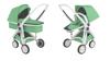 Greentom 2w1 CARRYCOT + REVERSIBLE Wózek eko biało-miętowy