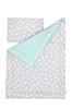 Pościel dziecięca 100/135 Mint & Grey Stars
